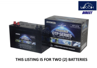 2 x GTP12-110 -  Tubular Gel Ultra Deep Cycle Leisure Battery